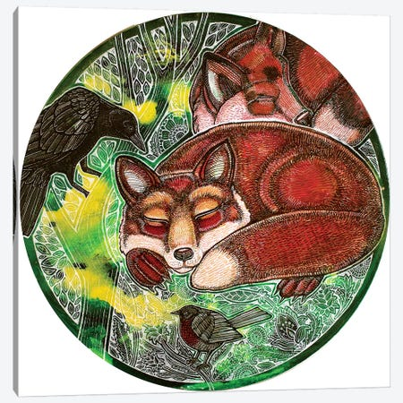 Dreaming Foxes Canvas Print #LSH153} by Lynnette Shelley Art Print