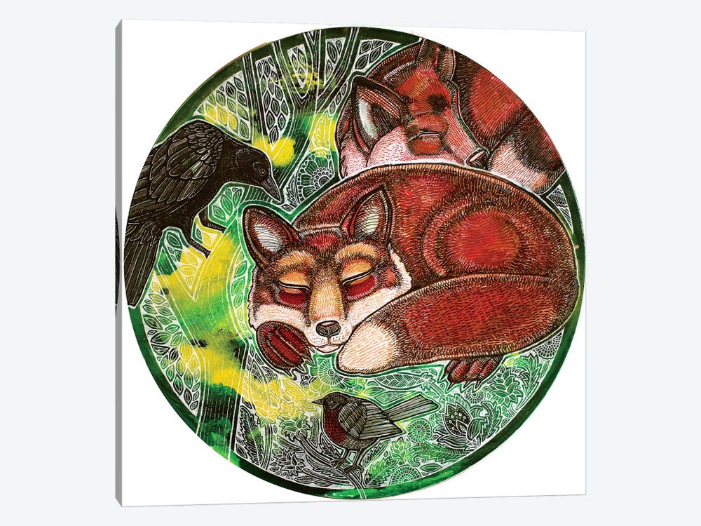 Dreaming Foxes by Lynnette Shelley 1-piece Canvas Art