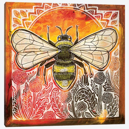 Bumblebee And Dandelions 3-Piece Canvas #LSH168} by Lynnette Shelley Canvas Wall Art