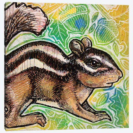 Cheeky Chipmunk Canvas Print #LSH16} by Lynnette Shelley Canvas Print