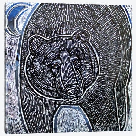Moonbear Canvas Print #LSH171} by Lynnette Shelley Art Print