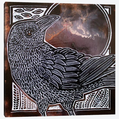 Night Bird 3-Piece Canvas #LSH174} by Lynnette Shelley Canvas Art