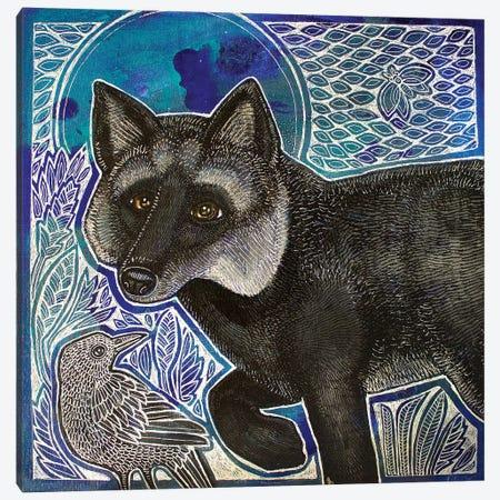 Silver Fox Canvas Print #LSH176} by Lynnette Shelley Canvas Art