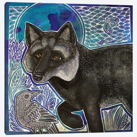Silver Fox Canvas Print #LSH176} by Lynnette Shelley Canvas Art