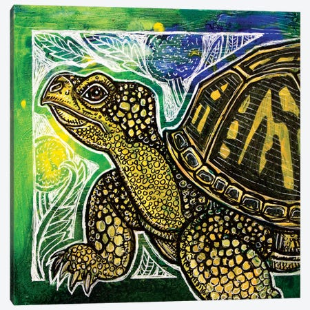Spring Turtle Canvas Print #LSH177} by Lynnette Shelley Canvas Art