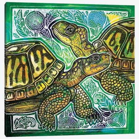 Turtle Crossing Canvas Print #LSH179} by Lynnette Shelley Canvas Print