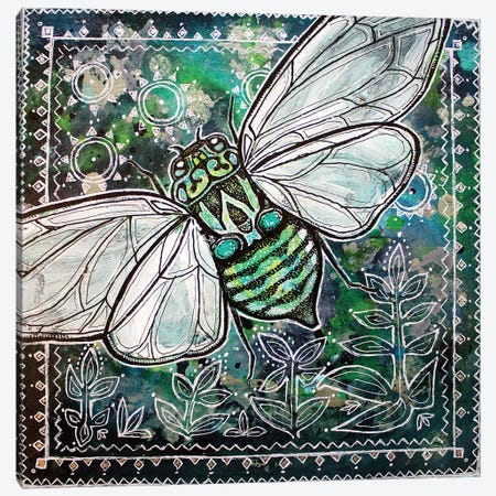 Cicada Summer Canvas Print #LSH17} by Lynnette Shelley Canvas Art Print
