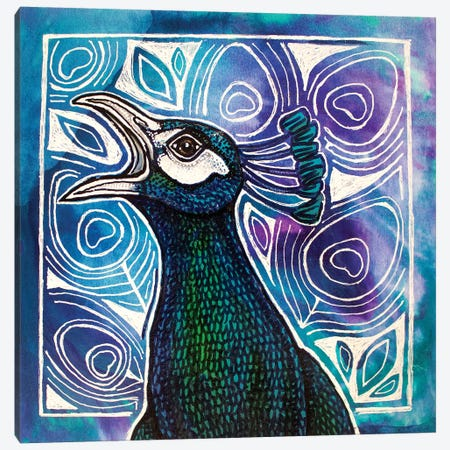 Call Of The Peacock Canvas Print #LSH182} by Lynnette Shelley Canvas Artwork