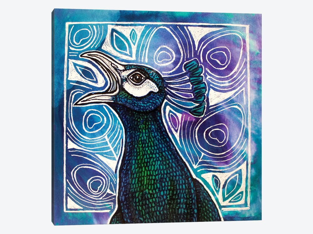 Call Of The Peacock by Lynnette Shelley 1-piece Canvas Art