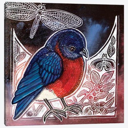 Eastern Bluebird 3-Piece Canvas #LSH183} by Lynnette Shelley Canvas Art