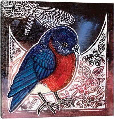 Eastern Bluebird Canvas Art Print