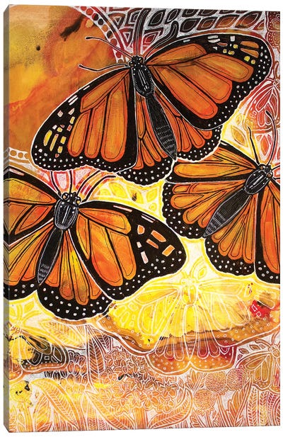 Flight Of The Monarch Canvas Art Print