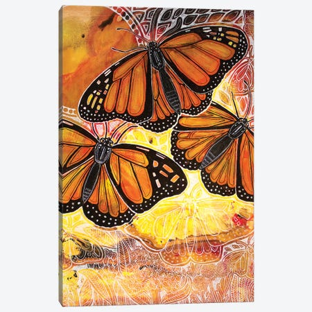 Flight Of The Monarch Canvas Print #LSH184} by Lynnette Shelley Canvas Print