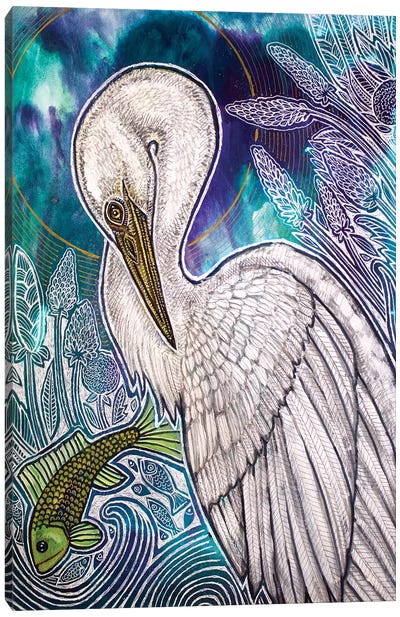 Great White Egret Canvas Art Print