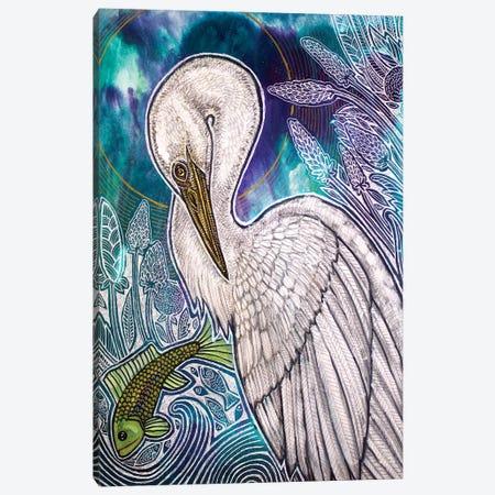 Great White Egret 3-Piece Canvas #LSH186} by Lynnette Shelley Art Print