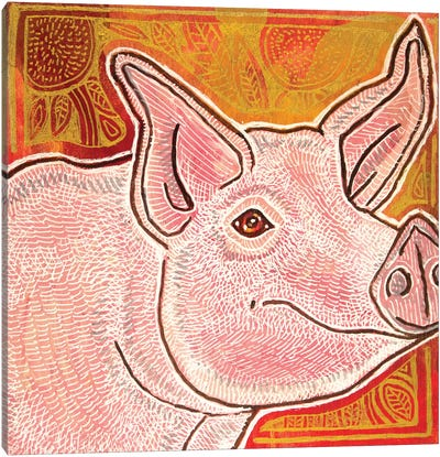 Little Pig Canvas Art Print