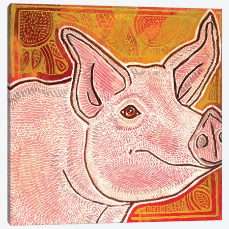 Little Pig Canvas Print #LSH188} by Lynnette Shelley Canvas Wall Art