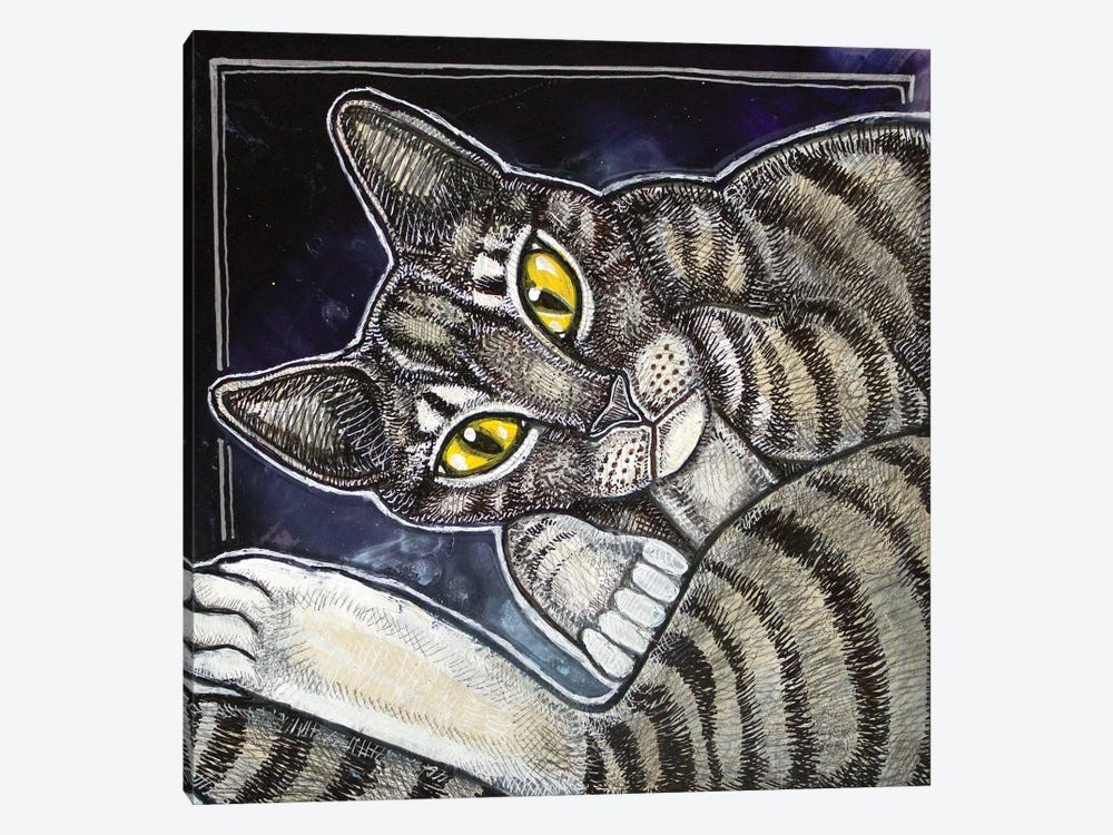 Cat Curl by Lynnette Shelley 1-piece Canvas Print