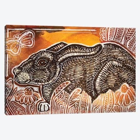 Crouching Rabbit Canvas Print #LSH196} by Lynnette Shelley Canvas Artwork