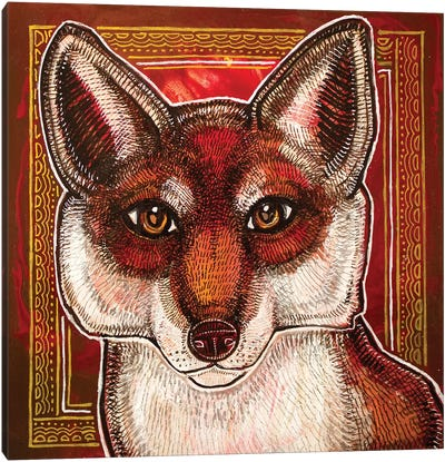 Curious Fox Canvas Art Print