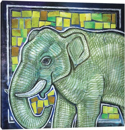 Elephant In The Room Canvas Art Print