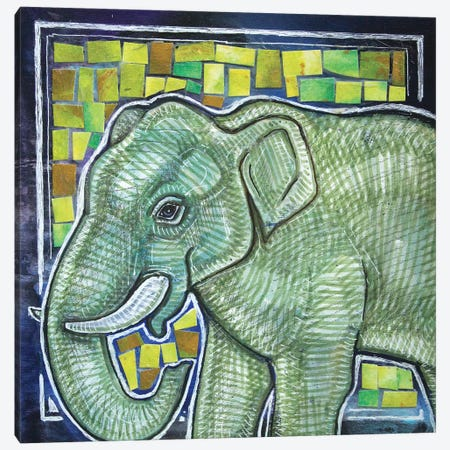 Elephant In The Room Canvas Print #LSH198} by Lynnette Shelley Canvas Print
