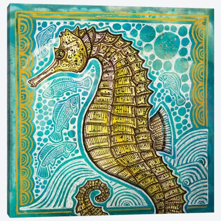 Lined Seahorse 3-Piece Canvas #LSH201} by Lynnette Shelley Canvas Art Print