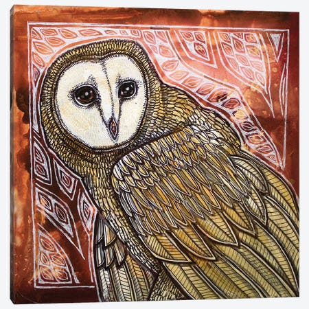 Nocturnal Visitor Canvas Print #LSH204} by Lynnette Shelley Canvas Art