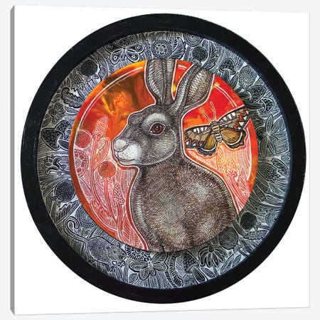 Rabbit Song Canvas Print #LSH206} by Lynnette Shelley Canvas Artwork