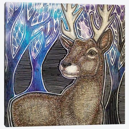 Stag Night Canvas Print #LSH208} by Lynnette Shelley Art Print