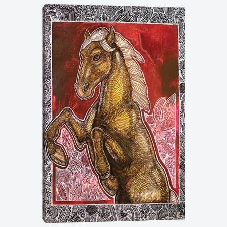 Wild Horses Couldn't Drag Me Away Canvas Print #LSH218} by Lynnette Shelley Canvas Art