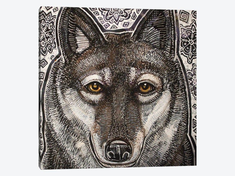 Winter Wolf by Lynnette Shelley 1-piece Canvas Art Print