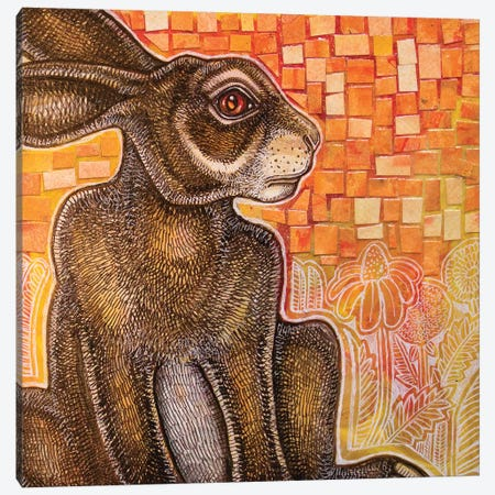 Watching Rabbit Canvas Print #LSH227} by Lynnette Shelley Canvas Artwork