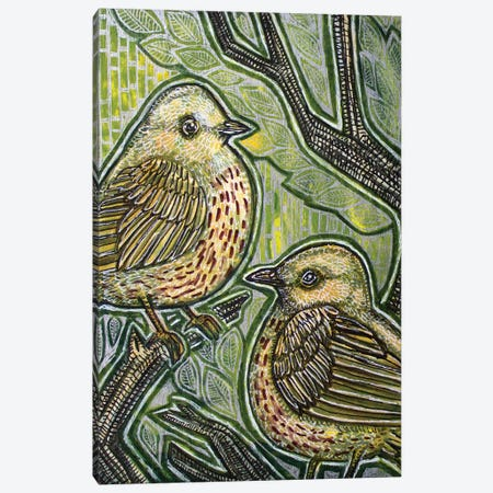 Duet (Yellow Warbler) 3-Piece Canvas #LSH229} by Lynnette Shelley Canvas Print