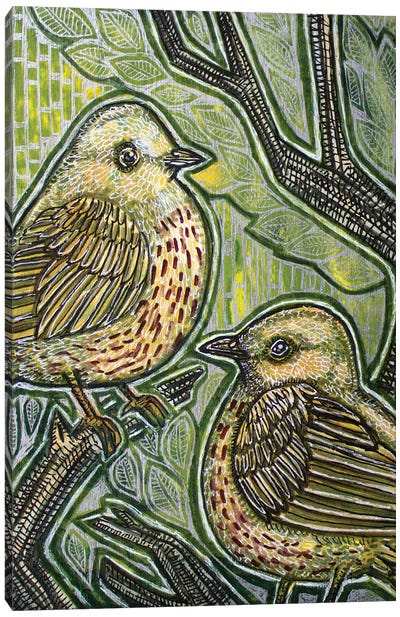 Duet (Yellow Warbler) Canvas Art Print