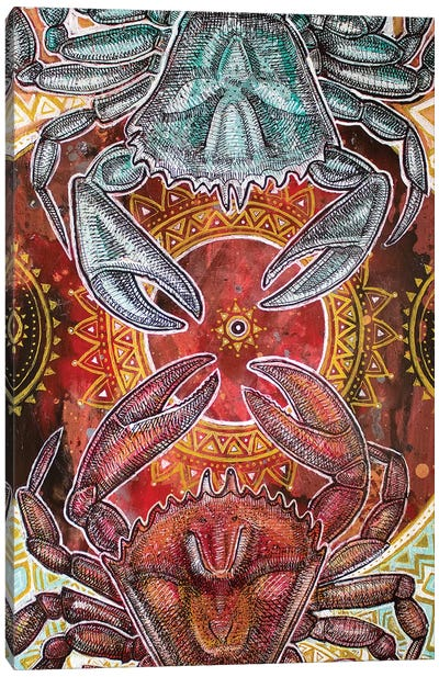 Dancing Crabs Canvas Art Print