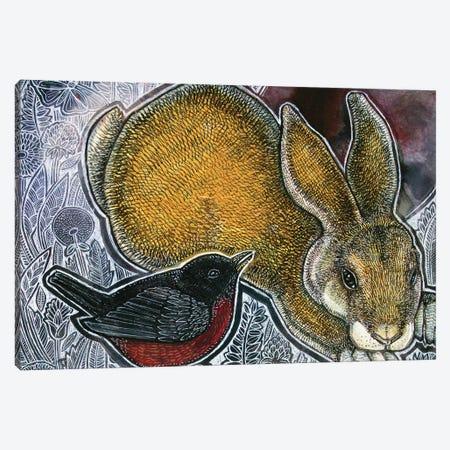 A Little Bird Told Me Canvas Print #LSH230} by Lynnette Shelley Canvas Art
