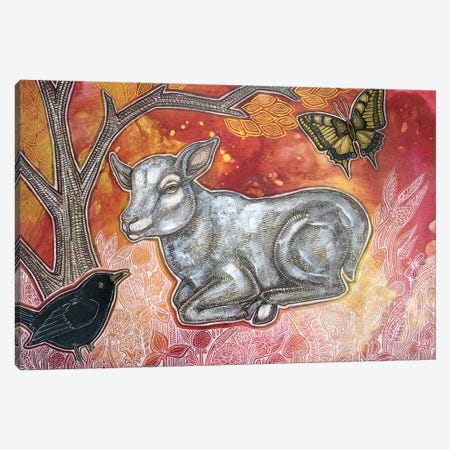 Spring Lamb Canvas Print #LSH243} by Lynnette Shelley Canvas Print