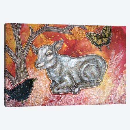 Spring Lamb Canvas Print #LSH243} by Lynnette Shelley Canvas Print