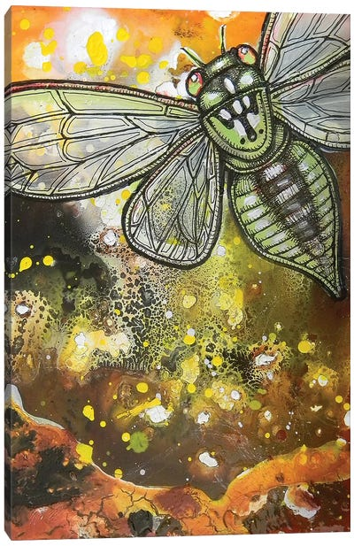 Departures - Green Cicada Canvas Art Print