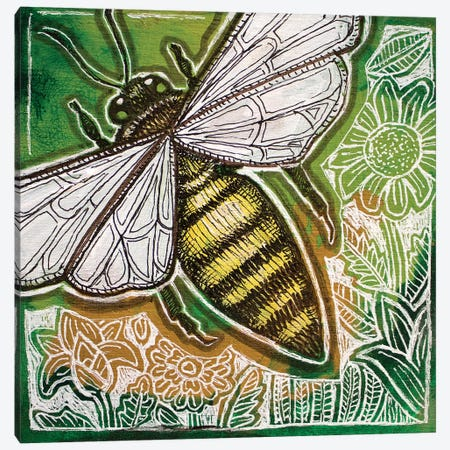 Little Bee Canvas Print #LSH252} by Lynnette Shelley Canvas Artwork