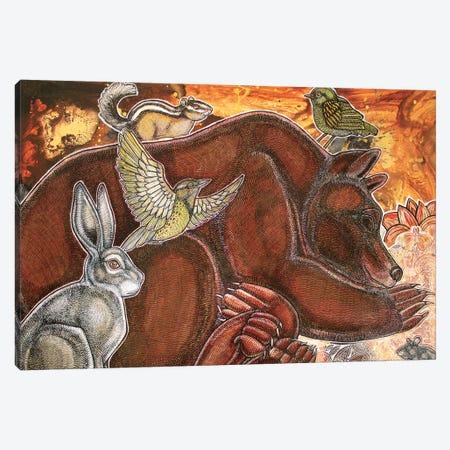 Dreaming Bear Canvas Print #LSH25} by Lynnette Shelley Canvas Wall Art