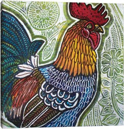 Garden Rooster Canvas Art Print