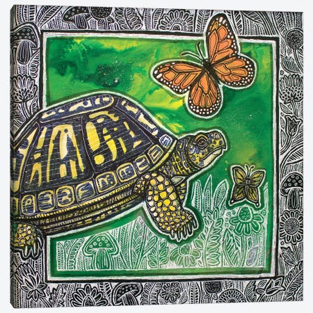Chasing Flutterbys Canvas Print #LSH269} by Lynnette Shelley Canvas Art Print