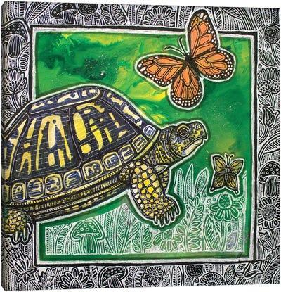 Chasing Flutterbys Canvas Art Print