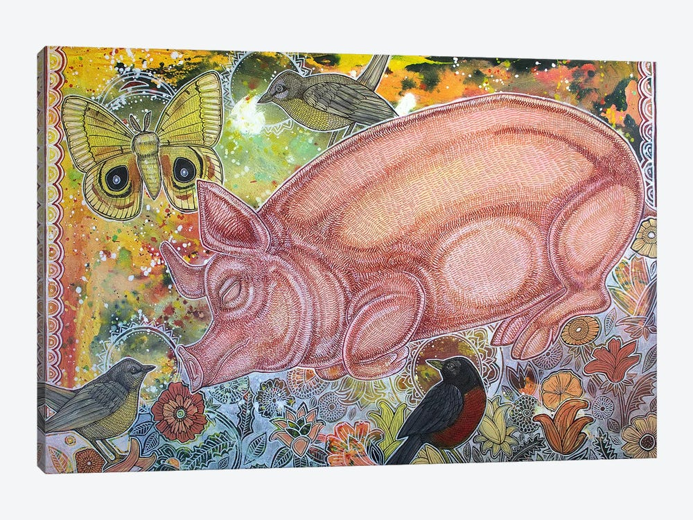 Dreaming Pig by Lynnette Shelley 1-piece Art Print