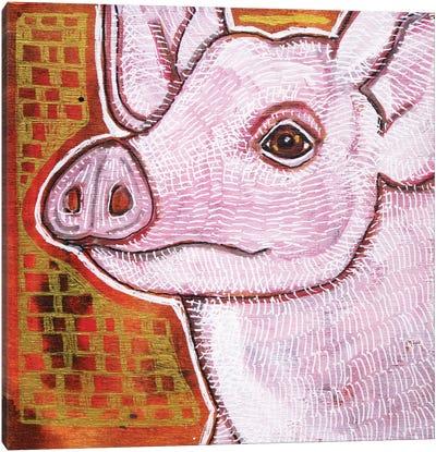 Pink Pig Canvas Art Print