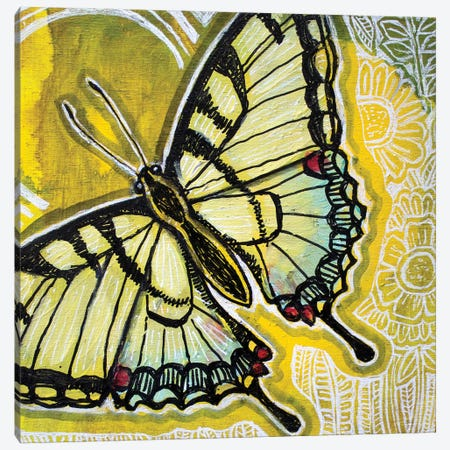 Sunny Swallowtail Canvas Print #LSH273} by Lynnette Shelley Canvas Wall Art