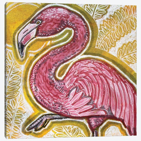 Pink Flamingo 3-Piece Canvas #LSH274} by Lynnette Shelley Canvas Print