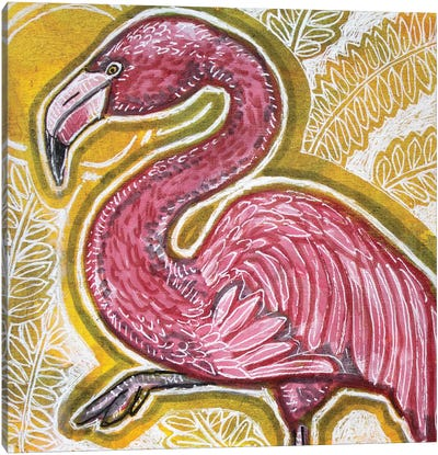 Pink Flamingo Canvas Art Print